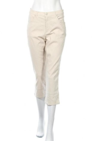 Дамски панталон Biaggini, Размер L, Цвят Бежов, 73% вискоза, 24% полиамид, 3% еластан, Цена 9,87лв.
