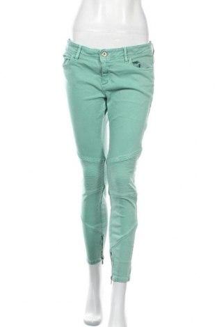 Дамски панталон Boss Orange, Размер L, Цвят Зелен, 93% памук, 6% полиестер, 1% еластан, Цена 73,19лв.