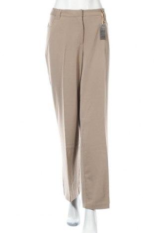 Дамски панталон Bpc Bonprix Collection, Размер XL, Цвят Бежов, 97% полиестер, 3% еластан, Цена 17,96лв.