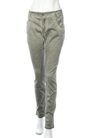 Дамски панталон Buena Vista, Размер XL, Цвят Зелен, 98% памук, 2% еластан, Цена 26,93лв.