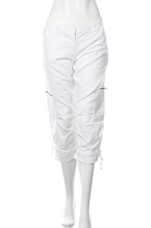 Дамски панталон Casa Blanca, Размер M, Цвят Бял, 55% лен, 45% памук, Цена 27,93лв.