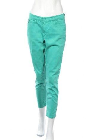 Γυναικείο παντελόνι Charles Vogele, Μέγεθος M, Χρώμα Πράσινο, 98% βαμβάκι, 2% ελαστάνη, Τιμή 14,81€