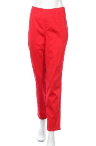 Γυναικείο παντελόνι Charles Vogele, Μέγεθος XXL, Χρώμα Κόκκινο, 98% βαμβάκι, 2% ελαστάνη, Τιμή 18,19€