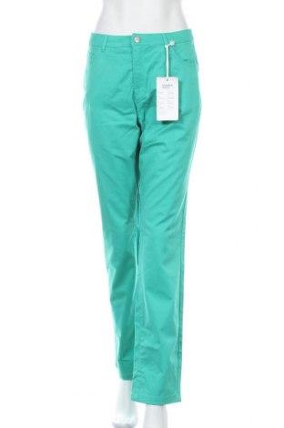 Γυναικείο παντελόνι Charles Vogele, Μέγεθος M, Χρώμα Πράσινο, 98% βαμβάκι, 2% ελαστάνη, Τιμή 14,35€