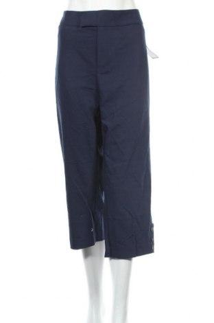 Дамски панталон Charter Club, Размер XXL, Цвят Син, 52% памук, 45% полиестер, 3% еластан, Цена 49,14лв.