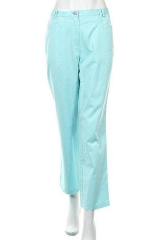 Дамски панталон Cosma, Размер L, Цвят Син, 97% памук, 3% еластан, Цена 22,68лв.