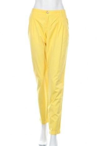 Дамски панталон Esprit, Размер XL, Цвят Жълт, Памук, Цена 22,31лв.