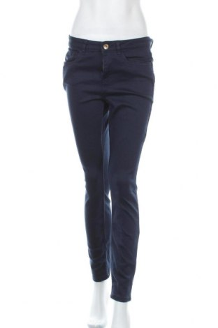 Дамски панталон Essentials by Tchibo, Размер M, Цвят Син, 86% памук, 11% полиестер, 2% еластан, 1% вискоза, Цена 22,05лв.