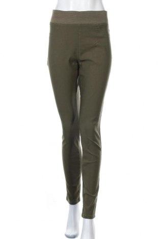 Дамски панталон Free Quent, Размер XL, Цвят Зелен, 76% вискоза, 21% полиамид, 3% еластан, Цена 25,52лв.