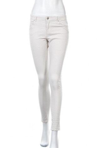 Дамски панталон H&M, Размер M, Цвят Екрю, 98% памук, 2% еластан, Цена 8,38лв.