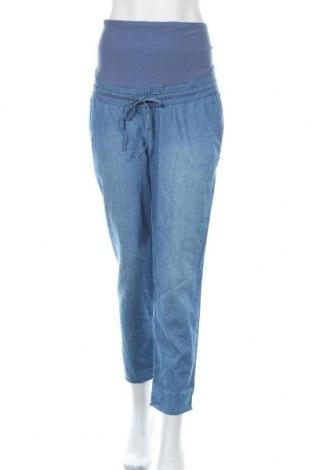 Дамски панталон H&M Mama, Размер L, Цвят Син, 65% памук, 35% вискоза, Цена 30,45лв.