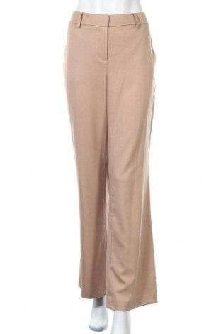 Дамски панталон Hallhuber, Размер L, Цвят Бежов, 66% полиестер, 33% вискоза, 1% еластан, Цена 54,76лв.