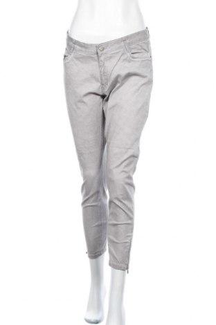 Дамски панталон Laura Torelli, Размер M, Цвят Сив, 97% памук, 3% еластан, Цена 29,40лв.