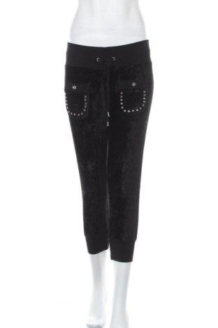 Дамски панталон Love Moschino, Размер M, Цвят Черен, 80% вискоза, 20% полиестер, Цена 65,10лв.