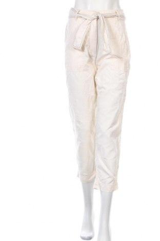 Dámské kalhoty  Mango, Velikost S, Barva Krémová, 82% bavlna, 18% len, Cena  407,00Kč