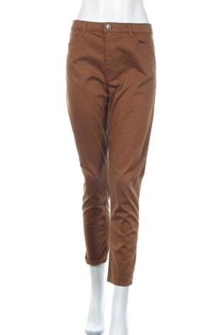 Дамски панталон Mango, Размер L, Цвят Кафяв, 97% памук, 3% еластан, Цена 39,90лв.