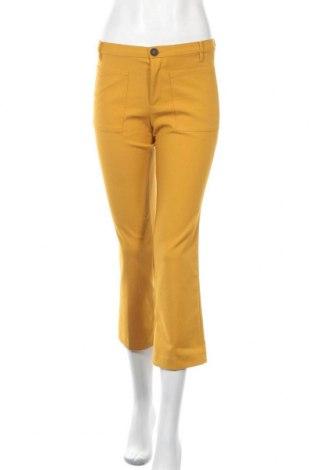 Дамски панталон Mango, Размер S, Цвят Жълт, Цена 26,25лв.