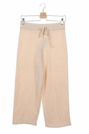 Дамски панталон Monki, Размер XS, Цвят Екрю, 53% полиестер, 37% акрил, 5% вълна, 5% еластан, Цена 42,00лв.