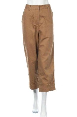 Дамски панталон Mtwtfss Weekday, Размер M, Цвят Кафяв, Памук, Цена 25,52лв.