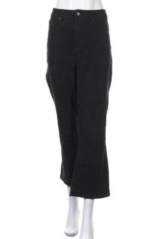 Дамски панталон NYDJ, Размер XXL, Цвят Черен, 60% памук, 22% полиестер, 12% вискоза, 6% еластан, Цена 35,44лв.