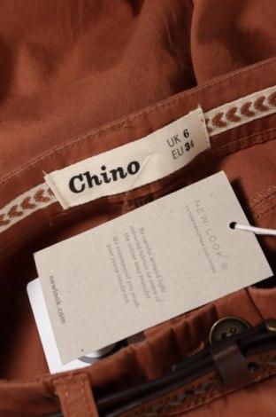 Дамски панталон New Look, Размер S, Цвят Кафяв, Памук, Цена 44,25лв.