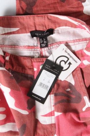 Дамски панталон New Look, Размер XS, Цвят Многоцветен, Памук, Цена 27,73лв.