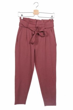 Дамски панталон ONLY, Размер XS, Цвят Пепел от рози, 63% вискоза, 32% полиамид, 5% еластан, Цена 51,75лв.