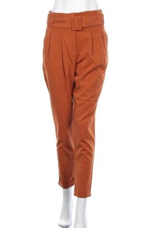 Дамски панталон ONLY, Размер S, Цвят Кафяв, 63% полиестер, 33% вискоза, 4% еластан, Цена 20,82лв.