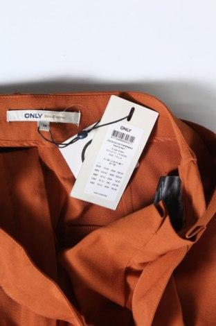 Дамски панталон ONLY, Размер S, Цвят Оранжев, 63% полиестер, 33% вискоза, 4% еластан, Цена 33,81лв.