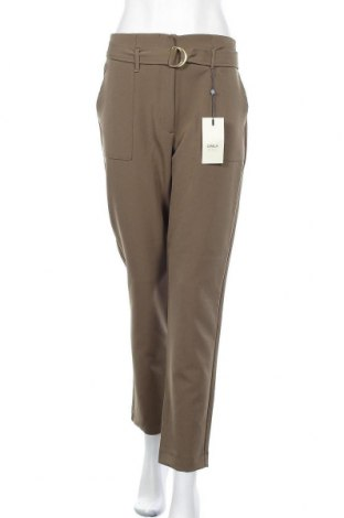 Дамски панталон ONLY, Размер L, Цвят Зелен, 87% полиестер, 13% еластан, Цена 20,22лв.