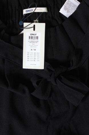 Дамски панталон ONLY, Размер S, Цвят Черен, Полиестер, Цена 17,16лв.