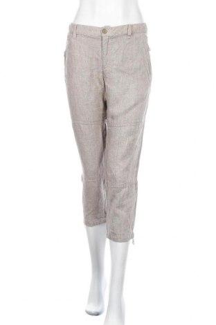 Дамски панталон Part Two, Размер M, Цвят Сив, Лен, Цена 22,94лв.