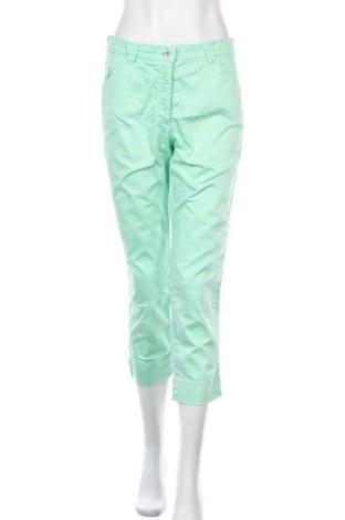 Дамски панталон Raphaela By Brax, Размер M, Цвят Зелен, 98% памук, 2% еластан, Цена 27,75лв.