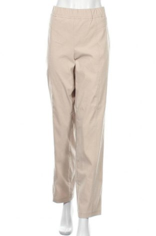 Дамски панталон Samoon By Gerry Weber, Размер XXL, Цвят Бежов, 79% вискоза, 19% полиамид, 2% еластан, Цена 23,63лв.