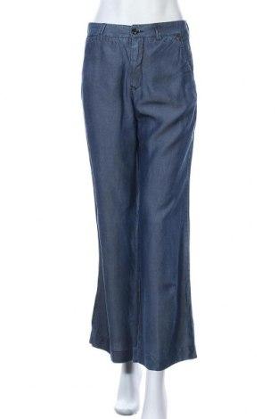 Дамски панталон Sisley, Размер M, Цвят Син, Лиосел, Цена 8,46лв.