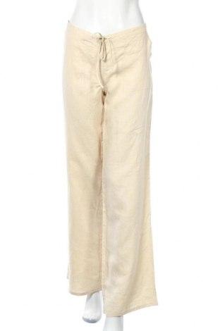 Дамски панталон Venus, Размер L, Цвят Бежов, 100% лен, Цена 6,78лв.