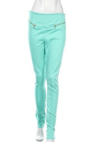 Γυναικείο παντελόνι Vero Moda, Μέγεθος M, Χρώμα Μπλέ, 70% βαμβάκι, 29% πολυεστέρας, 1% ελαστάνη, Τιμή 17,28€
