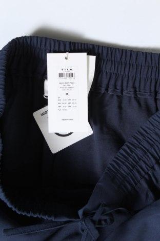 Дамски панталон Vila, Размер M, Цвят Син, 90% вискоза, 10% полиестер, Цена 16,84лв.