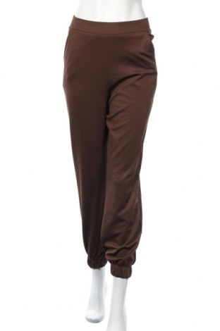 Дамски панталон Zara, Размер S, Цвят Кафяв, 96% полиестер, 4% еластан, Цена 34,65лв.