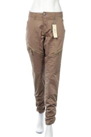 Дамски панталон Zizzi, Размер XXL, Цвят Кафяв, 97% памук, 3% еластан, Цена 32,13лв.