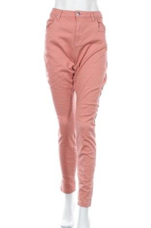 Дамски панталон Zizzi, Размер XXL, Цвят Розов, 65% памук, 32% полиестер, 3% еластан, Цена 30,45лв.