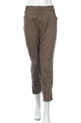 Дамски панталон Zizzi, Размер XXL, Цвят Бежов, 98% памук, 2% еластан, Цена 29,40лв.