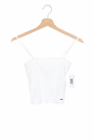 Γυναικείο αμάνικο μπλουζάκι Hollister, Μέγεθος XS, Χρώμα Λευκό, 95% βαμβάκι, 5% ελαστάνη, Τιμή 9,38€