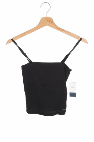 Γυναικείο αμάνικο μπλουζάκι Hollister, Μέγεθος XS, Χρώμα Μαύρο, 95% βαμβάκι, 5% ελαστάνη, Τιμή 9,38€