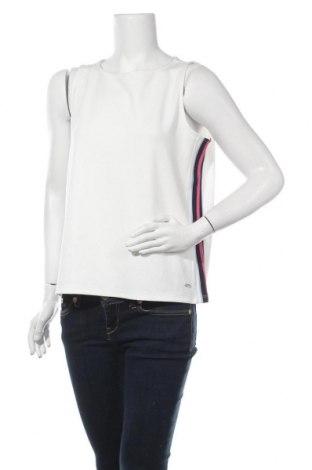 Γυναικείο αμάνικο μπλουζάκι Tom Tailor, Μέγεθος XL, Χρώμα Λευκό, 95% πολυεστέρας, 5% ελαστάνη, Τιμή 10,05€