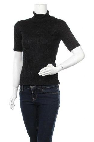 Дамски пуловер Lindex, Размер L, Цвят Черен, 80% вискоза, 20% метални нишки, Цена 20,79лв.