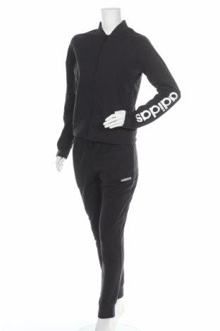 Дамски спортен комплект Adidas, Размер M, Цвят Черен, 72% памук, 28% полиестер, Цена 134,25лв.