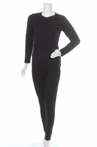 Γυναικείο αθλητικό σετ Crivit, Μέγεθος L, Χρώμα Μαύρο, 51% βαμβάκι, 49% πολυεστέρας, Τιμή 9,87€