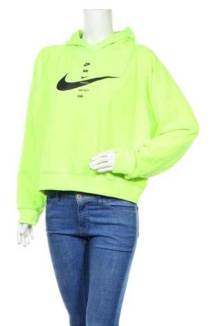 Hanorac de femei Nike, Mărime L, Culoare Verde, 76% poliester, 24% bumbac, Preț 221,45 Lei