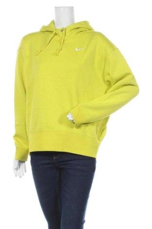 Hanorac de femei Nike, Mărime S, Culoare Galben, 80% bumbac, 20% poliester, Preț 237,73 Lei